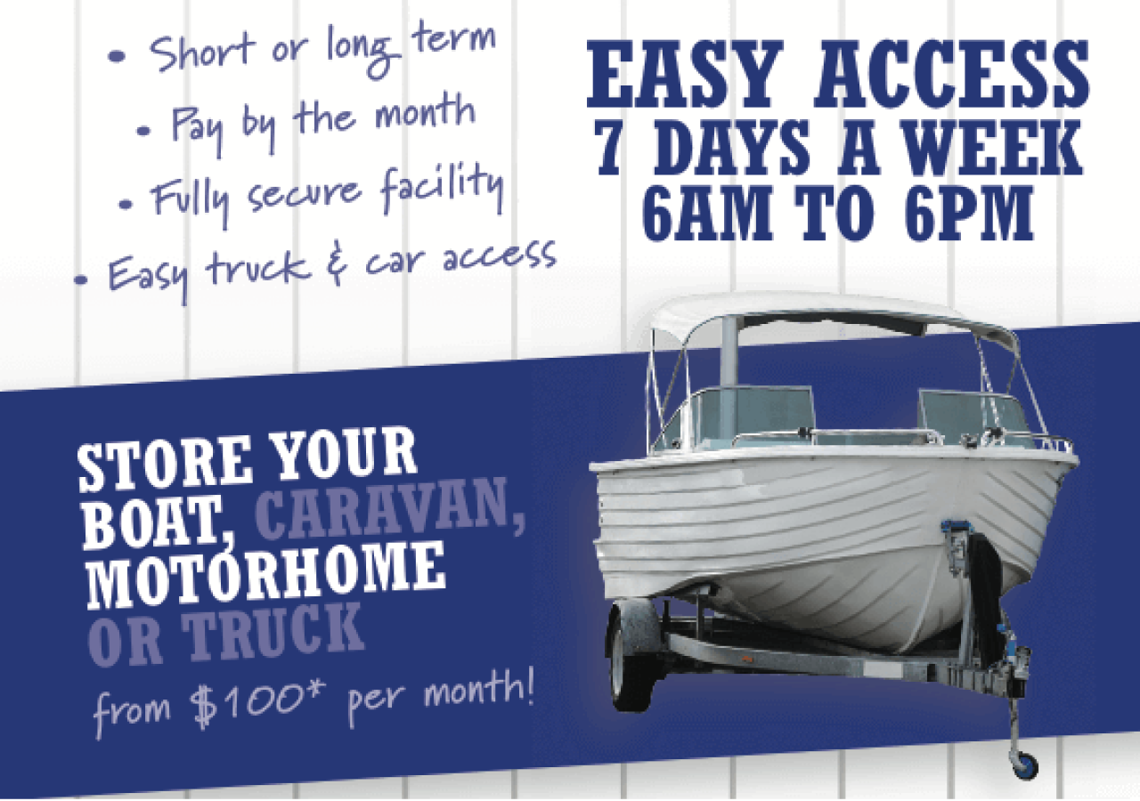 Store your Boat - Easy Access 7 days per week